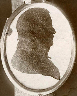 A silk silhouette of governor James Turner. Image from the North Carolina Museum of History.