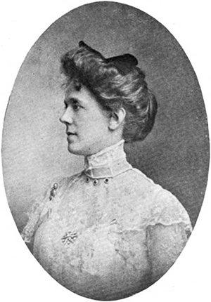 A photograph of Betty Humes McGhee Tyson, wife of Lawrence Davis Tyson, published in 1902. Image from Google Books.