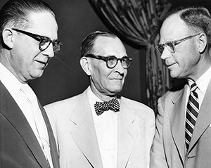 William B. Umstead with Otis Banks (left) and James H. Councill (right), circa 1952. Image from the North Carolina Museum of History.