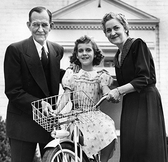 William B. Umstead with his wife Merle Davis Umstead and daughter Merle Bradley Umstead. Image from the North Carolina Museum of History.