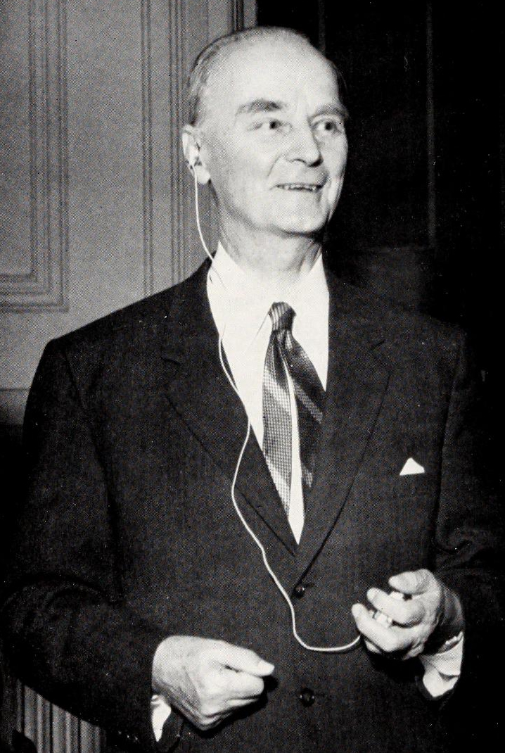 Photograph of William Reinhold Valentiner, first Director of the North Carolina Museum of Art, taken most likely during the 1950s. From <i>The North Carolina Museum of Art Bulletin</i>, Vol. III, 1959, p. 10. From the collections of the State Library of North Carolina, presented on Archive.org.