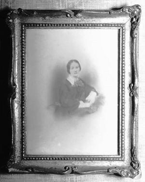 Portrait of Harriet Espy (Hattie) Vance, date unknown.  Used by permission of the Vance Birthplace, North Carolina Historic Sites, North Carolina Department of Cultural Resources.