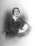 Drawing of Harriette Espy, wife of Zebulon Baird Vance, circa 1840. Image from the North Carolina Historic Sites.