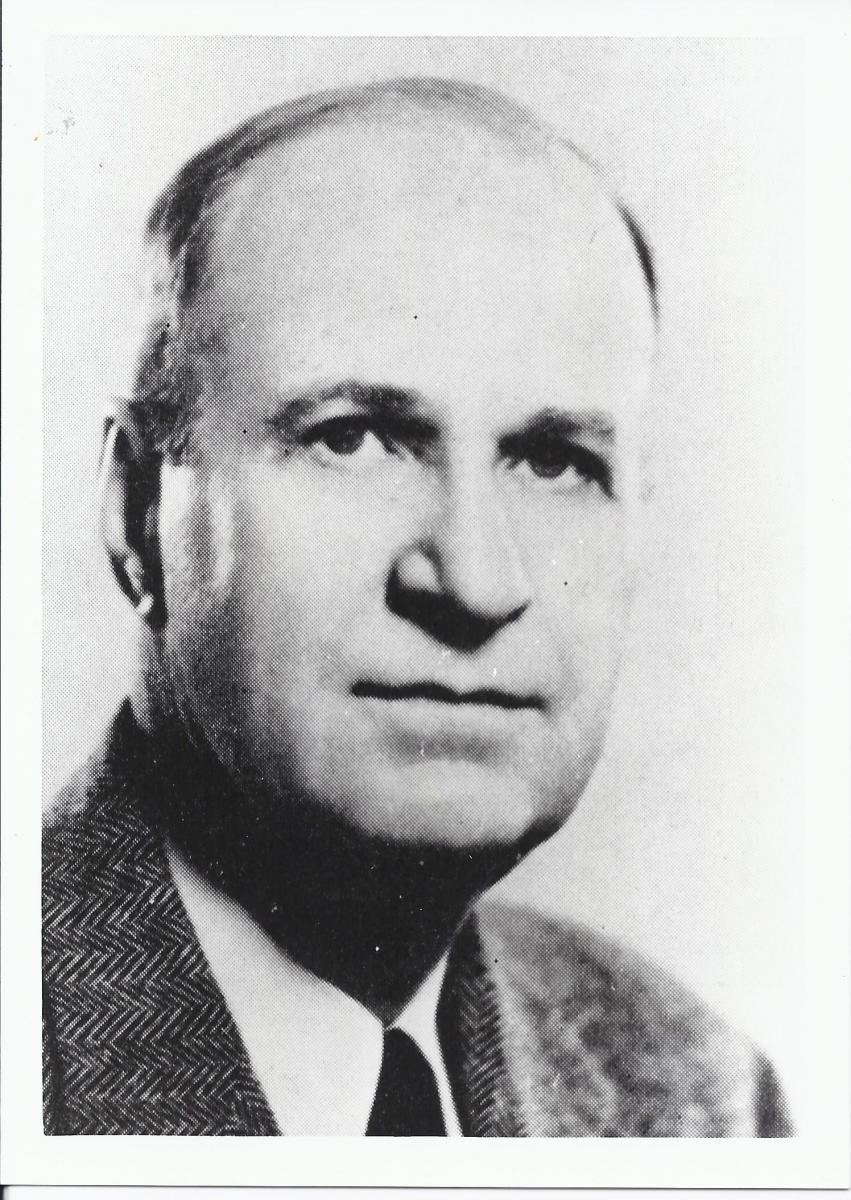 Photographic portrait of Charles G. Vardell, Jr.  Presented courtesy of the University Archives, DeTamble Library, St. Andrews University, Laurinburg, N.C.