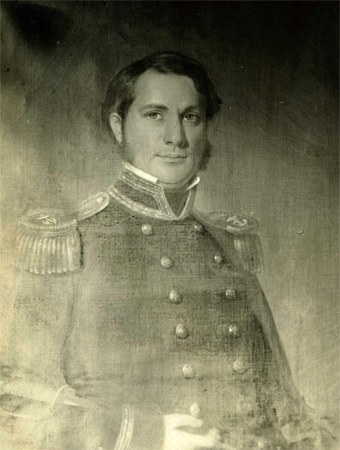 Photograph of an oil portrait of James Waddell.  From the collections of the North Carolina Museum of History.