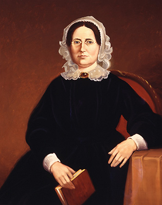 "A portrait of Samuel Wait's wife, Sarah ""Sally"" Merriam Wait, whom he married in 1818. Image from Wake Forest University."