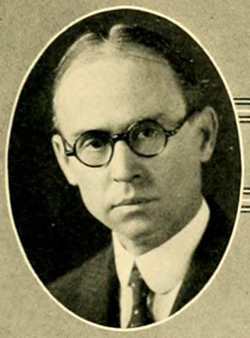 A photograph of William Hane Wannamaker from the 1925 Duke University yearbook. Image from the University of North Carolina at Chapel Hill.