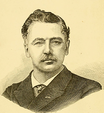 An engraving of Dr. Edward Warren published in 1885. Image from Archive.org.