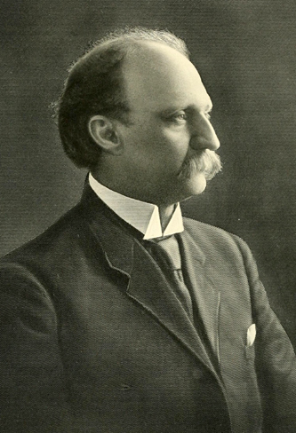 A 1908 engraving of Dr. James Howell Way. Image from Archive.org.