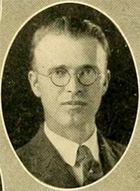 A photograph of Newman Ivey White from the 1925 Duke University yearbook. Image from the University of North Carolina at Chapel Hill.