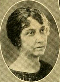 A photograph of Marie Anne Updike White, wife of Newman Ivey White, from the 1925 Duke University yearbook. Image from the University of North Carolina at Chapel Hill.
