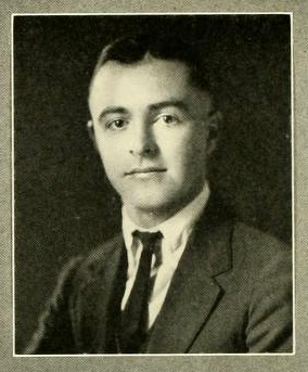 Senior portrait of Daniel Jay Whitener, from the Univerity of North Carolina yearbook <i>The Yackety Yack,</i> Vol. 32, 1922, p. 96. Presented on DigitalNC.