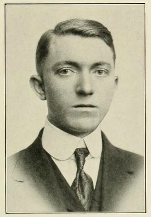 Senior portrait of James Vivian Whitfield, from the University of North Carolina yearbook <i>The Yackety Yack,</i> published 1915.  Presented on DigitalNC.