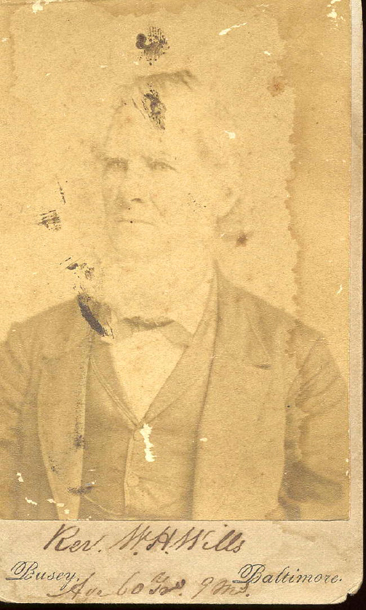 "Photograph of Rev. W. H. Wills (date unknown). Item ""Wills, Rev. Dr. W. H..jpg"" from the William H. Wills Papers, Southern Historical Collection Digital Files. Presented by the Carolina Digital Repository."
