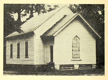 Photograph of historic Whitaker's Chapel, before 1939.  From James Elmwood Carroll's <i>History of the North Carolina Annual Conference of the Methodist Protestant Church</i>, published 1939 by McCulloch & Swaim, Greensboro, NC.  Presented on Archive.org.  The Rev. Wills was a member at the chapel where the North Carolina Annual Conference, considered the oldest in the Methodist Protestant Church, was first held in 1828.