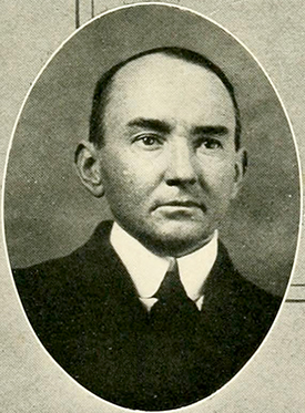A photograph of Dr. Louis Round Wilson published in 1921. Image from the University of North Carolina at Chapel Hill.