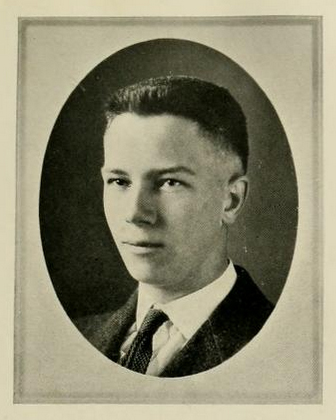 Senior portrait of Thomas James Wilson III, from the University of North Carolina yearbook <i>The Yackety Yack</i>, published 1921 by the University of North Carolina at Chapel Hill.  Presented on DigitalNC.