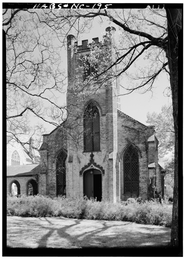 Photographic image of Chapel of the Cross, Chapel Hill, NC, by Jack E. Boucher, March 1962.  From the Historic American Buildings Survey, Library of Congress, Prints & Photographs Online Catalog.  Thomas Winecoff was rector at Chapel of the Cross from 1897-98.