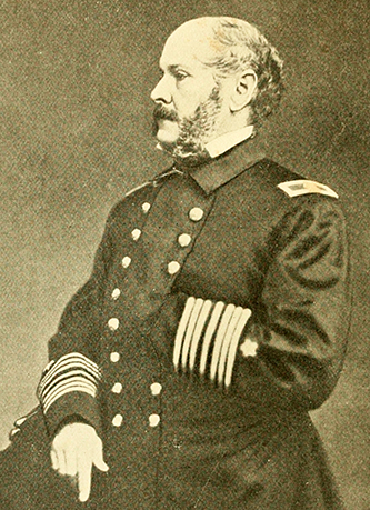 A photograph of rear admiral John Ancrum Winslow. Image from Archive.org.