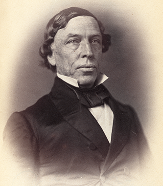 Photograph of Warren Winslow, circa 1859. Image from the Library of Congress.