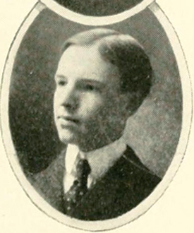 College yearbook photo of James Winston Horner, 1904. Image from Digital NC.