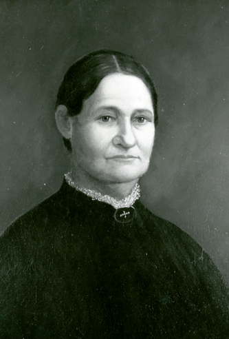 A photograph of a portrait of Carolina Moore Gilliam Wood. Image courtesy of the Southern Historical Collection, Wilson Library, University of North Carolina at Chapel Hill.