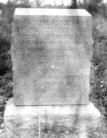 Memorial marker to Henry Lawson Wyatt. Image from the North Carolina Museum of History.