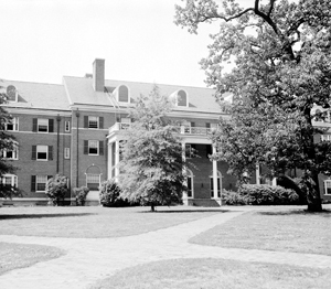 Alderman Residence Hall. From the North Carolina Collection Photographic Archives.