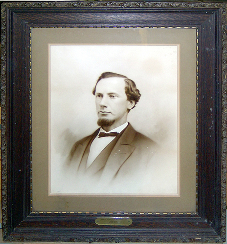 """Photographic portrait of John Wesley Alspaugh, Trinity College trustee."" Image courtesy of Duke University Libraries."