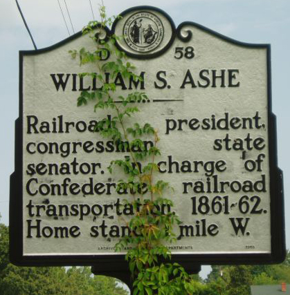 NC Highway Historical Marker D-58. Image courtesy of the NC Office of Archives & History.