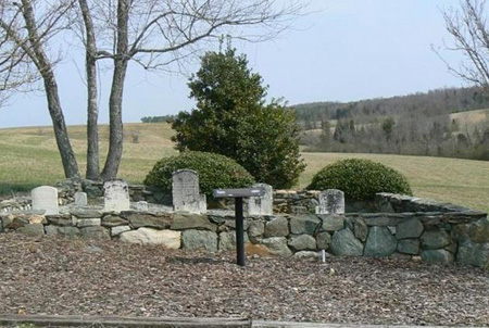 Andrew Balfour Family Cemetary courtesy of the Randolph County Historic Commission.