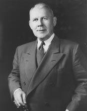 Graham Arthur Barden, half-length portrait, standing, facing slightly left, circa 1956. Image courtesy of the Library of Congress.