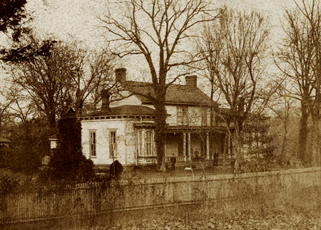 Cottage where Herbert Battle was born. Battle House, Chapel Hill,1892. Courtesy of UNC Libraries.