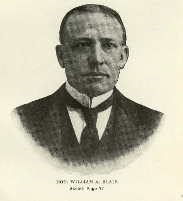 "William Allen Blair. Image courtesy of ""Prominent people of North Carolina: brief biographies of leading people for ready reference purposes""."