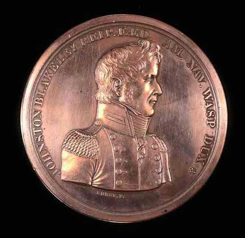 Commemorative Medal in honor of Johnston Blakeley. North Carolina Museum of History.
