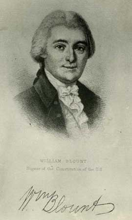William Blount, signer of the U.S. Constition. Courtesy of NC Museum of History.