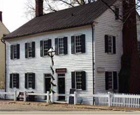 John Blum house and Salem's first printing press. Courtesy of Salem, Inc.