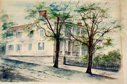 Painting of the Burgwin-Wright House. Image courtesy of the North Carolina Museum of History.