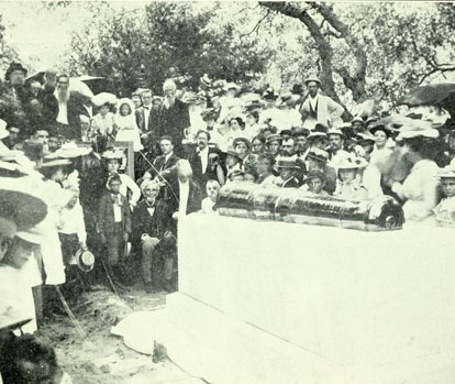 """Unveiling Ceremony at the Tomb of Captain Otway Burns."" Image courtesy of ""Captain Otway Burns. """