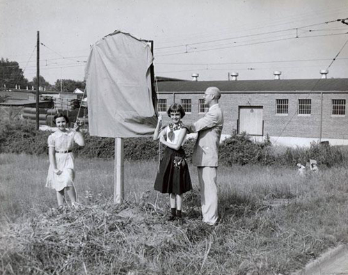 Unveiling of the historical marker dedicated to William Chronicle. Image courtesy of the NC Museum of History.