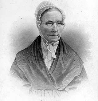Catherine Coffin, wife of Levi Coffin. Image courtesy of the University of Cincinnati.