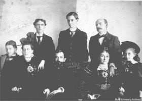 Ben Duke and family with Trinity faculty. Image courtesy of Duke University.