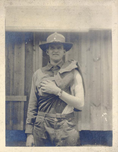 Louis Graves after receiving a vaccination on 18 May 1917 at Fort Oglethorpe.