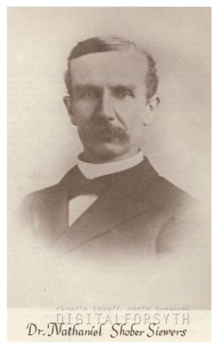 """Dr. Nathaniel Shober Siewers."" Image courtesy of the Forsyth County Public Library Photograph Collection."