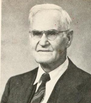 Image of Charles Gildersleeve Vardell, from The White Heather yearbook at Flora Macdonald College, [p.12], published in 1951 by Flora Macdonald College. Presented on North Carolina Digital Collection.