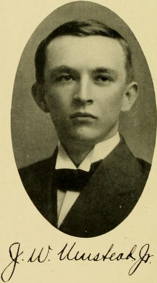 Image of John Wesley Umstead, Jr., from Yackety Yack Yearbook 1909, [p.63], published in 1909 by Chapel Hill, Publications Board of the University of North Carolina at Chapel Hill.