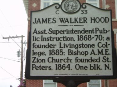 James Walker Hood, NC Historical Marker C-33. Image courtesy of the North Carolina Office of Archives & History.