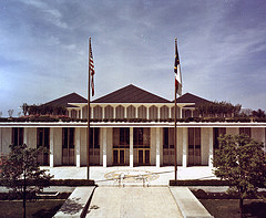Exterior view of the North Carolina Legislative Building, Raleigh, NC, c.1973. Photo by Clay Nolan. From the General Negative Collection, North Carolina State Archives,  T-73-2-1.