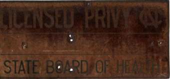 Licensed Privy, ca. 1893. Available from Davie County Public Library via DigitalNC.