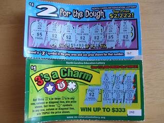 North Carolina Education Lottery Tickets, 2008. Courtesy of Flickr user Phil Hart